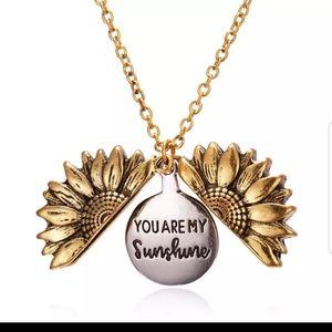 New sunflower locket pendant necklace